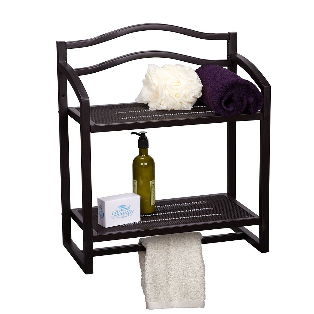 Household Essentials 2-Tier Hanging Wall Shelf