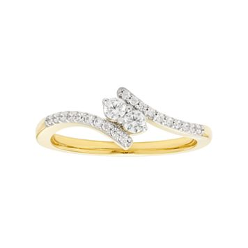 10k Gold 1/4 Carat T.W. Diamond 2-Stone Ring