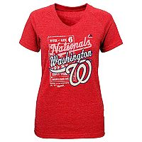 Girls 7-16 Majestic Washington Nationals Terrorizing Play V-Neck Tee