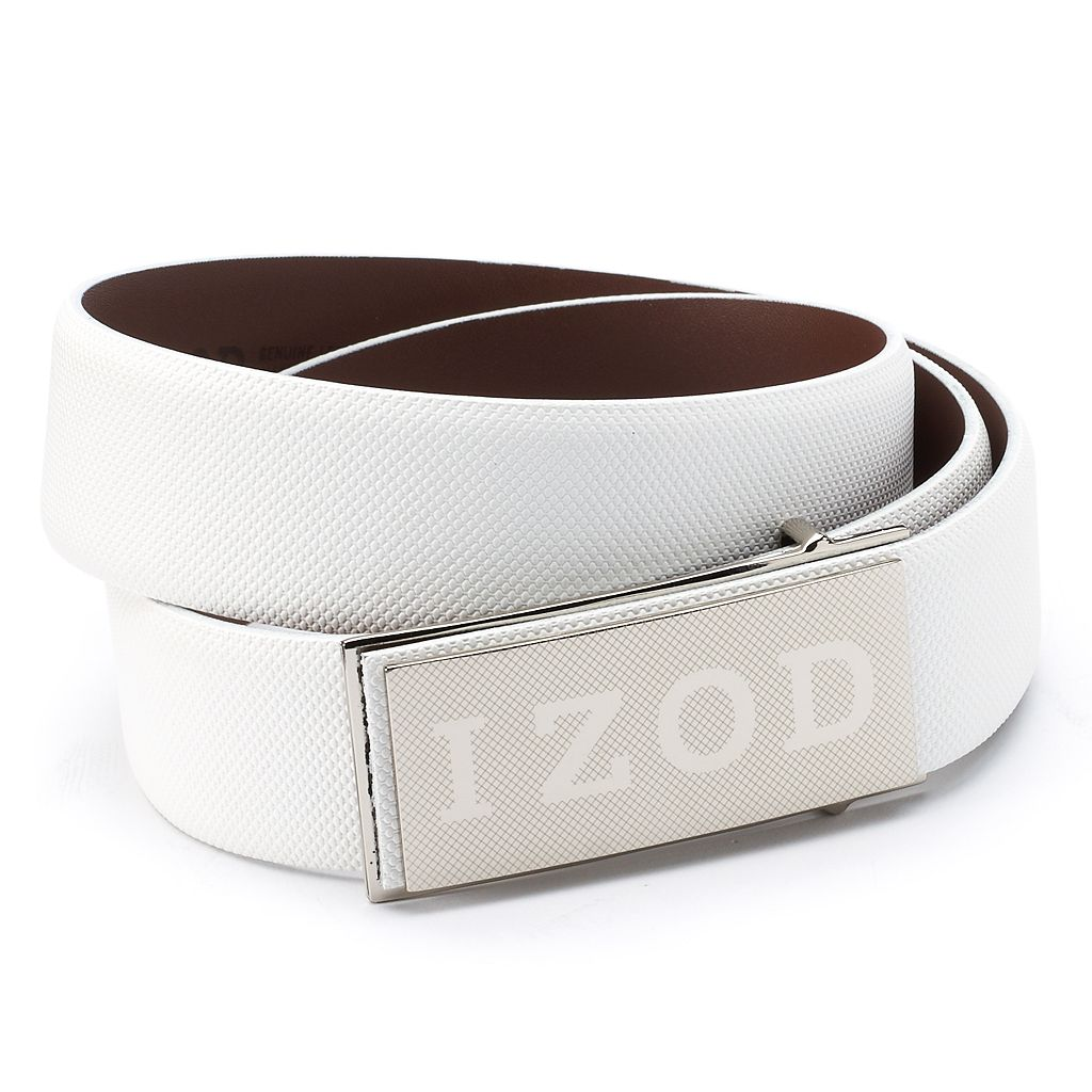 Men's IZOD Logo Plaque Golf Belt