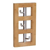 Household Essentials 3-Hook Vertical Wall Rack