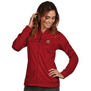 Women's Antigua Maryland Terrapins Waterproof Golf Jacket