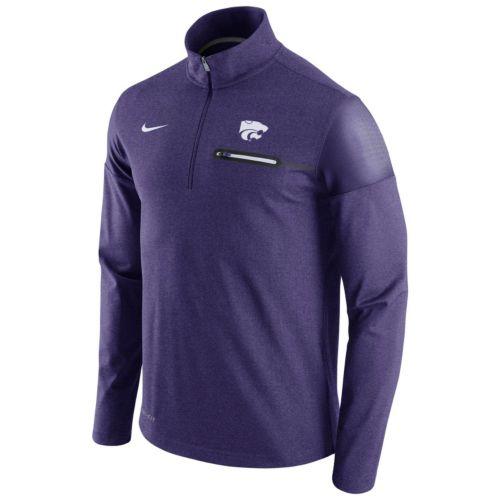 Men's Nike Kansas State Wildcats Elite Coaches Dri-FIT Pullover