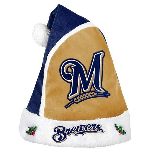 Adult Milwaukee Brewers Santa Hat