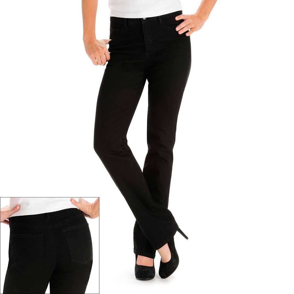 Petite Lee Monroe Classic Fit Straight-Leg Jeans
