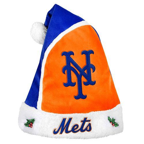 Adult New York Mets Santa Hat