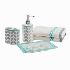Intelligent Design 5-piece Chevron Bath Accessory Set by
