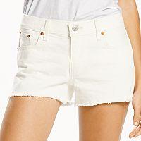 Women's Levi's Frayed Jean Shortie Shorts