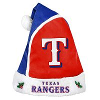 Adult Texas Rangers Santa Hat