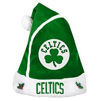 Adult Boston Celtics Santa Hat