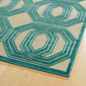 Kaleen A Breath of Fresh Air Mod Geometric Indoor Outdoor Rug
