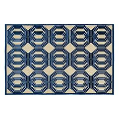Kaleen A Breath of Fresh Air Mod Geometric Indoor Outdoor Rug