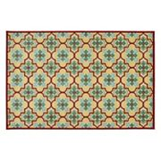 Kaleen A Breath of Fresh Air Tile Indoor Outdoor Rug