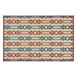 Kaleen A Breath of Fresh Air Lines Geometric Indoor Outdoor Rug