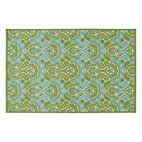 Kaleen A Breath of Fresh Air Bloom Floral Indoor Outdoor Rug