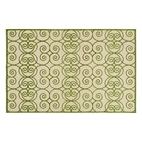 Kaleen A Breath of Fresh Air Scroll Indoor Outdoor Rug