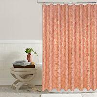 Colordrift Luna Metallic Lattice Shower Curtain