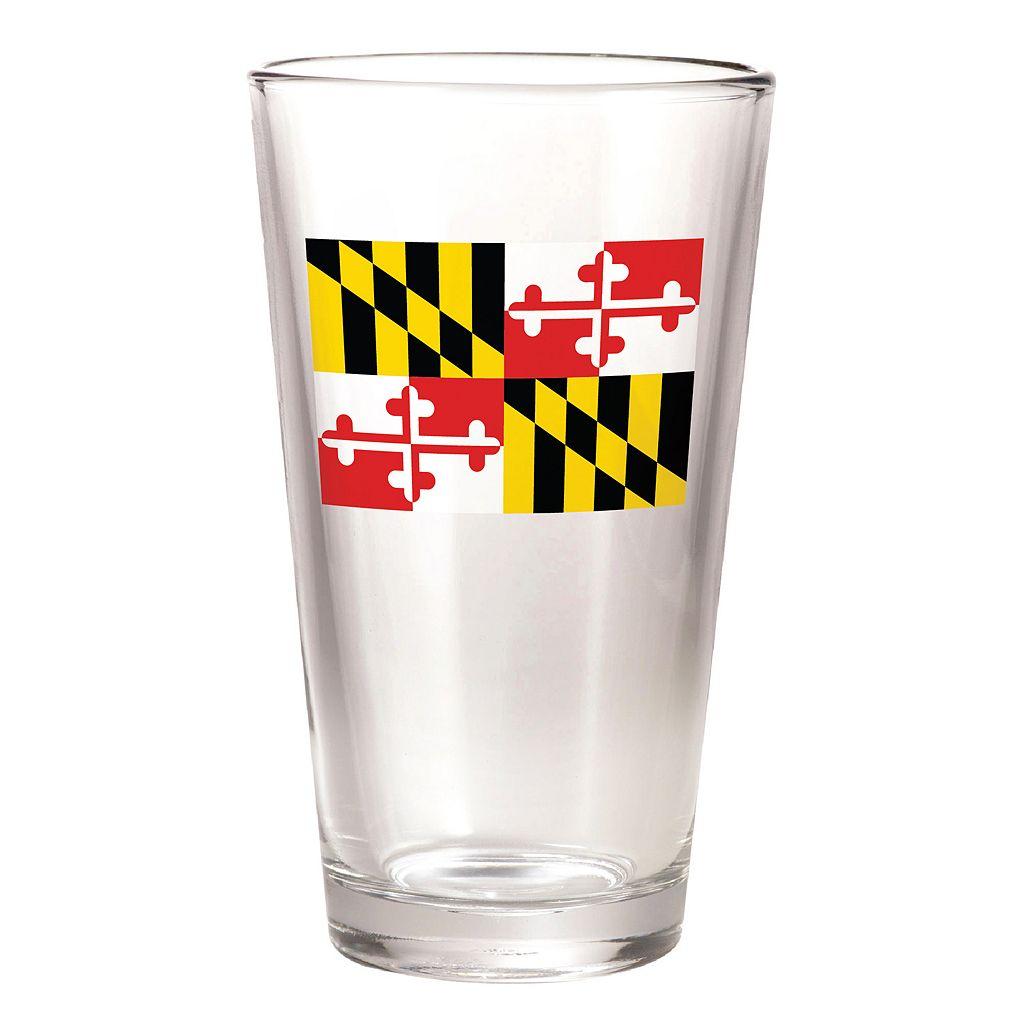 30 Watt Maryland Flag 16-oz. Pint Glass