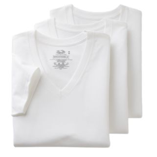 Men's Fruit of the Loom Signature 3-pack Breathable V-Neck Tees