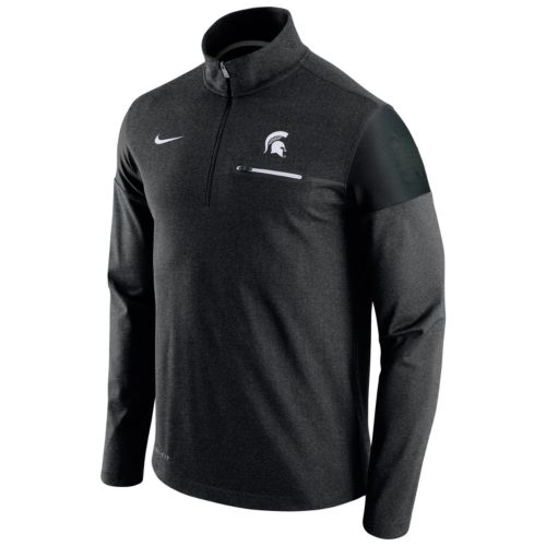 Men's Nike Michigan State Spartans Elite Coaches Dri-FIT Pullover