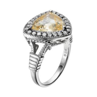 SIRI USA by TJM Sterling Silver Cubic Zirconia Halo Ring