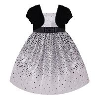 Girls 7-16 & Plus Size American Princess Mock Bolero Polka-Dot Dress