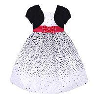 Girls 7-16 & Plus Size American Princess Mock Bolero Polka-Dot Dress