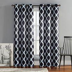 VCNY 2-pack Tribeca Diamond Blackout Window Curtains
