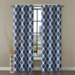 VCNY 2-pack Tribeca Diamond Blackout Window Curtains
