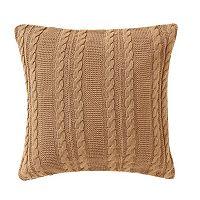 VCNY Dublin Cable Knit Throw Pillow
