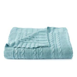 VCNY Dublin Cable Knit Throw