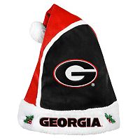Adult Georgia Bulldogs Santa Hat