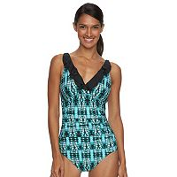Women's Beach Scene Colette Ruffled One-Piece Swimsuit