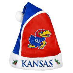 Adult Kansas Jayhawks Santa Hat