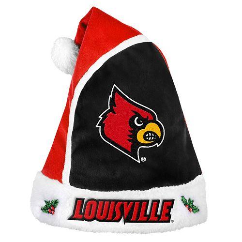 Adult Louisville Cardinals Santa Hat