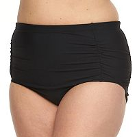 Plus Size Beach Scene Ruched Bikini Bottoms