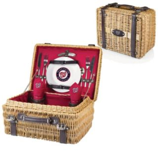 Picnic Time Washington Nationals Champion Willow Picnic Basket with Service for 2