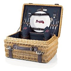 Picnic Time Atlanta Braves Champion Willow Picnic Basket with Service for 2