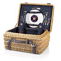 Picnic Time Houston Astros Champion Willow Picnic Basket with Service for 2