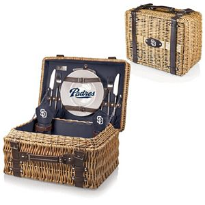 Picnic Time San Diego Padres Champion Willow Picnic Basket with Service for 2
