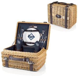 Picnic Time Tampa Bay Rays Champion Willow Picnic Basket with Service for 2