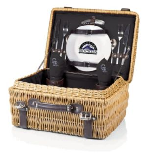 Picnic Time Colorado Rockies Champion Willow Picnic Basket with Service for 2