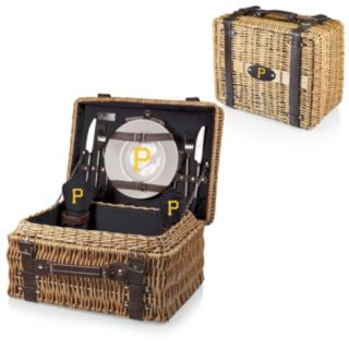 Picnic Time Pittsburgh Pirates Champion Willow Picnic Basket with Service for 2