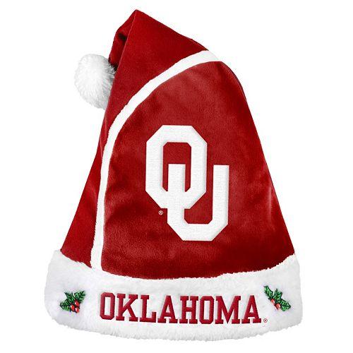 Adult Oklahoma Sooners Santa Hat