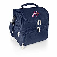 Picnic Time Atlanta Braves Pranzo 7-Piece Insulated Cooler Lunch Tote Set