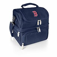Picnic Time Boston Red Sox Navy Pranzo 7 pc Insulated Cooler Lunch Tote Set