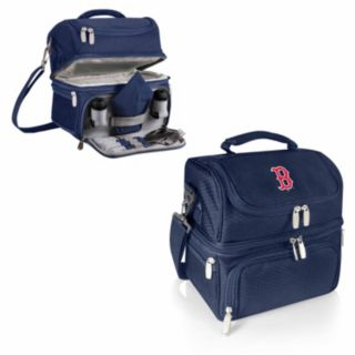 Picnic Time Boston Red Sox Navy Pranzo 7-Piece Insulated Cooler Lunch Tote Set