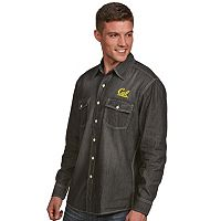 Men's Antigua Cal Golden Bears Chambray Shirt