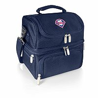 Picnic Time Philadelphia Phillies Navy Pranzo 7 pc Insulated Cooler Lunch Tote Set