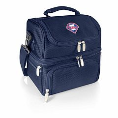 Picnic Time Philadelphia Phillies Navy Pranzo 7-Piece Insulated Cooler Lunch Tote Set